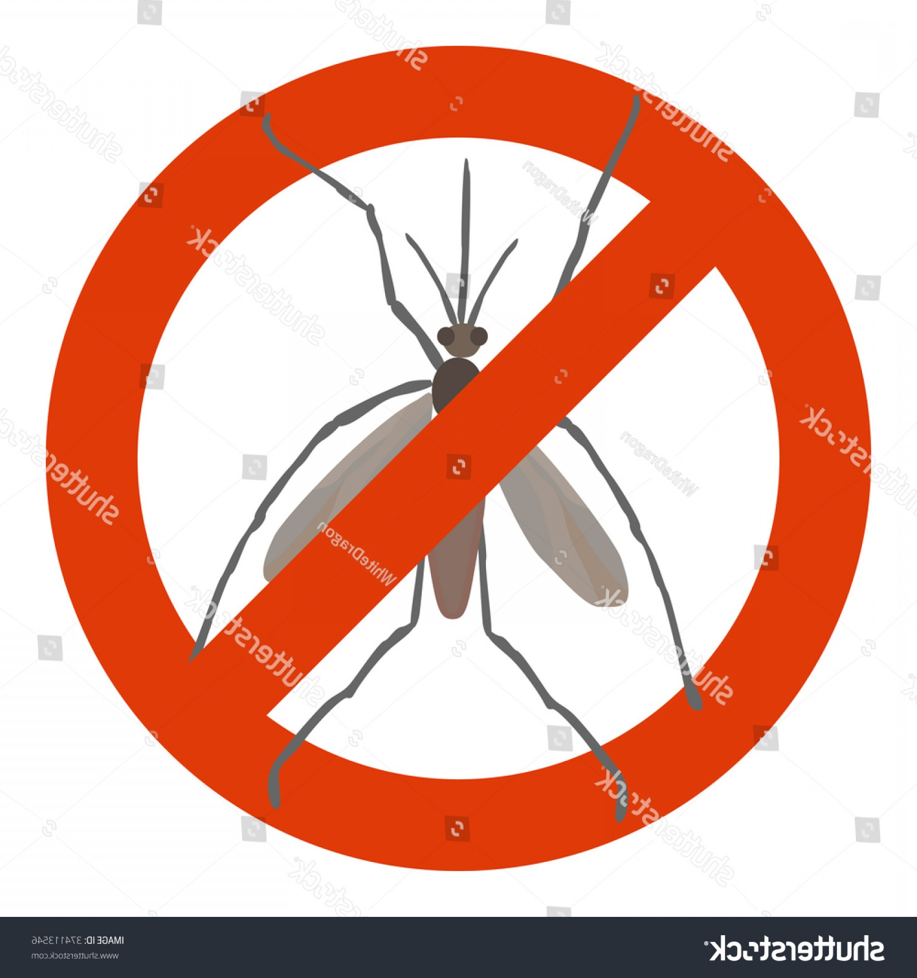 Infectious Disease Vector: Prohibition Sign Mosquito Symbol Infectious Disease