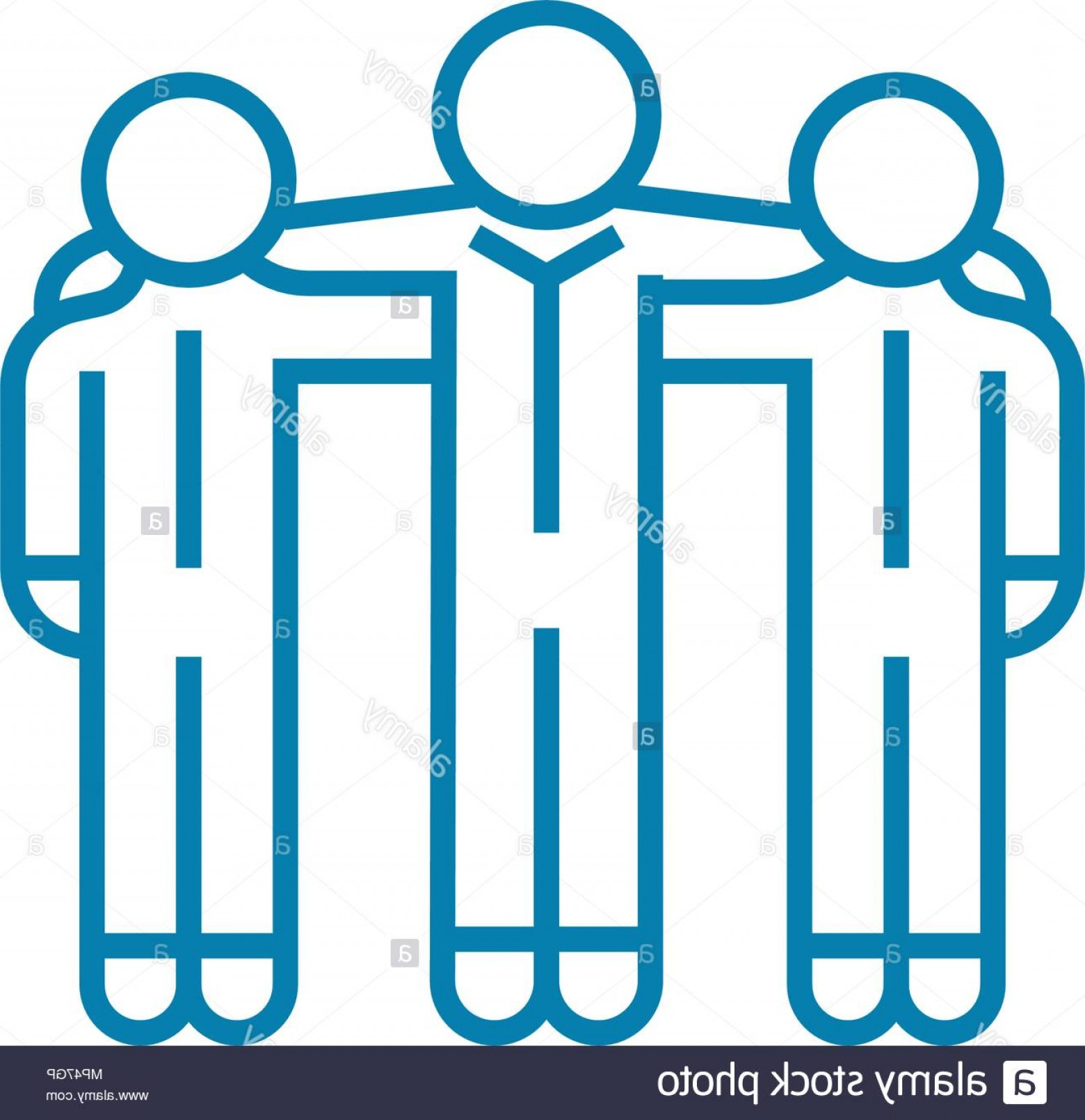 Art Project Icon Vector: Project Team Linear Icon Concept Project Team Line Vector Sign Symbol Illustration Image