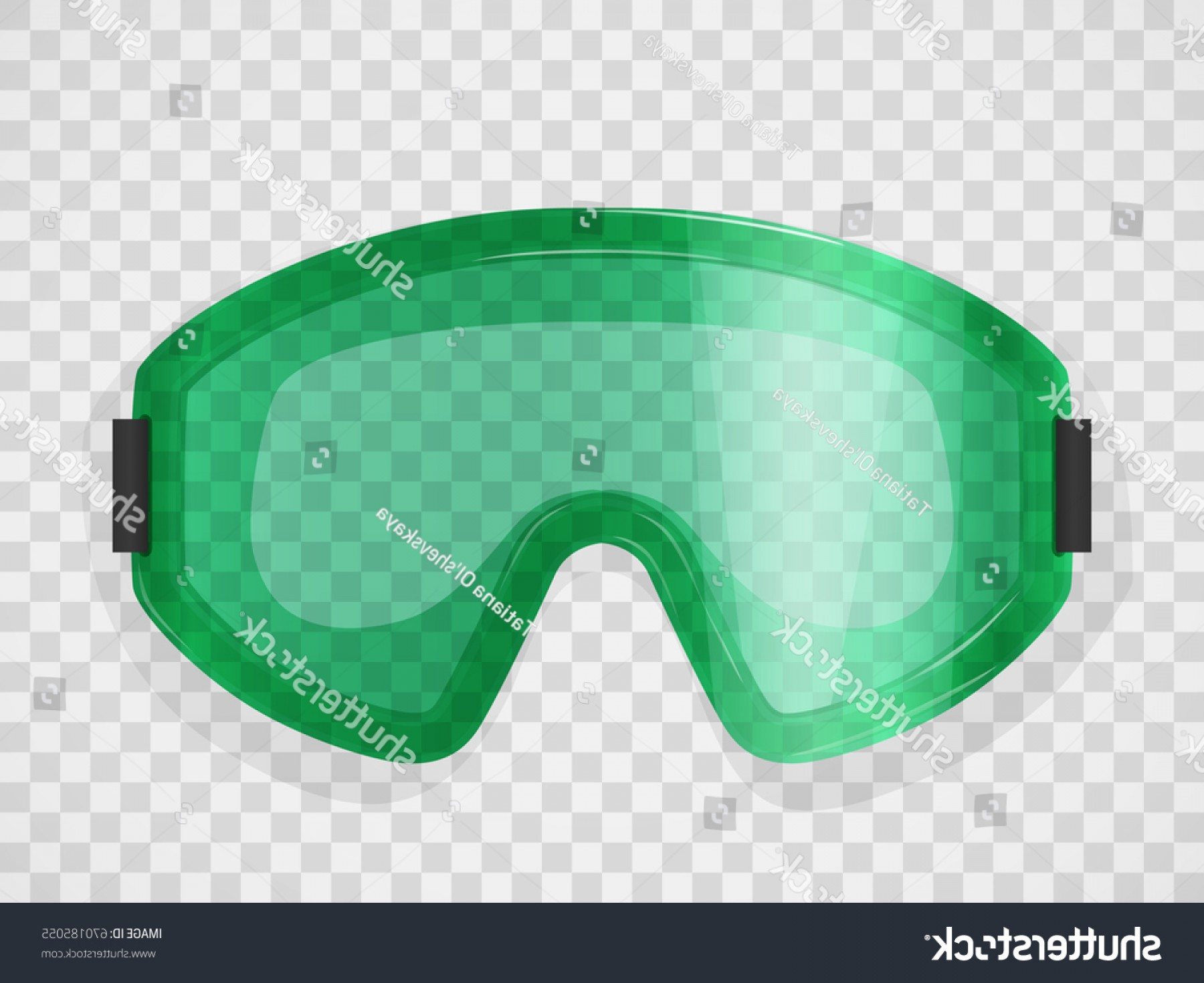 Transparent PNG Vector Skier: Protective Glasses On Transparent Background Realistic