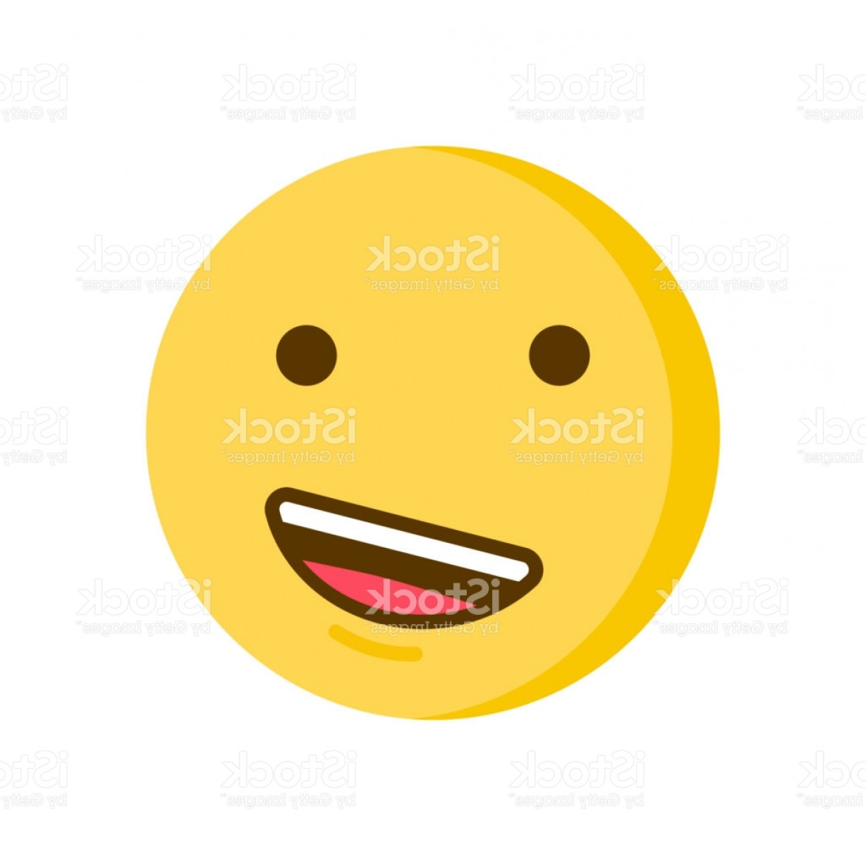 Popular Vector Emoji: Proud Emoticon Vector Smiley Emoji Icon With A Confident Smile Gm