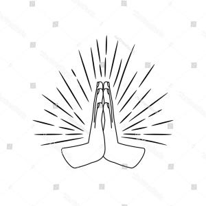 Praying Hands Vectors Shutterstock: Prayer Palms Vector Sketch Praying Hands