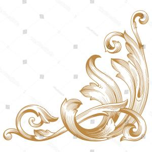 Baroque Vector Clip Art: Baroque Frame From Historic Book Germany Gm