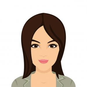 Asian Woman Vector: Beautiful Asian Woman Flat Icon Asian Girl Vector