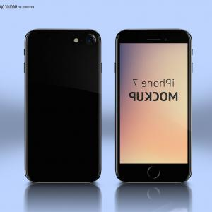 IPhone 8 Vector Front Back: Elegant Realistic Black Smartphone Blank Screen Isolated
