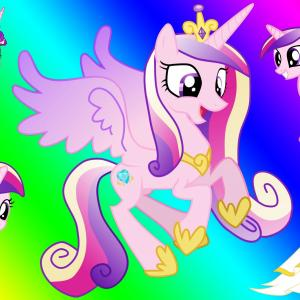 MLP Princess Cadence Vector: Princess Cadence Baby Pony Coloring Page