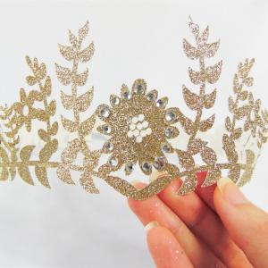 Princess Tiara Vector Heart With A Bottom: Ancient Medieval Royal Gold Crown Decorated