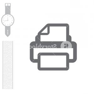 Printer Icon Vector: Printer Icon Vector Illustration Flat Design Style Bxonykzwtgjhioi