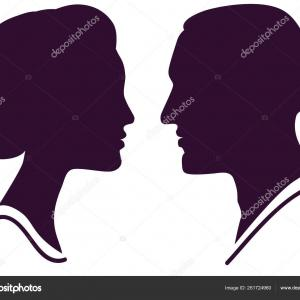 Profile Vector Male Female: Profile Icon Vector