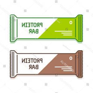Vector Protein: Protein Bar Green Brown Pack Organic