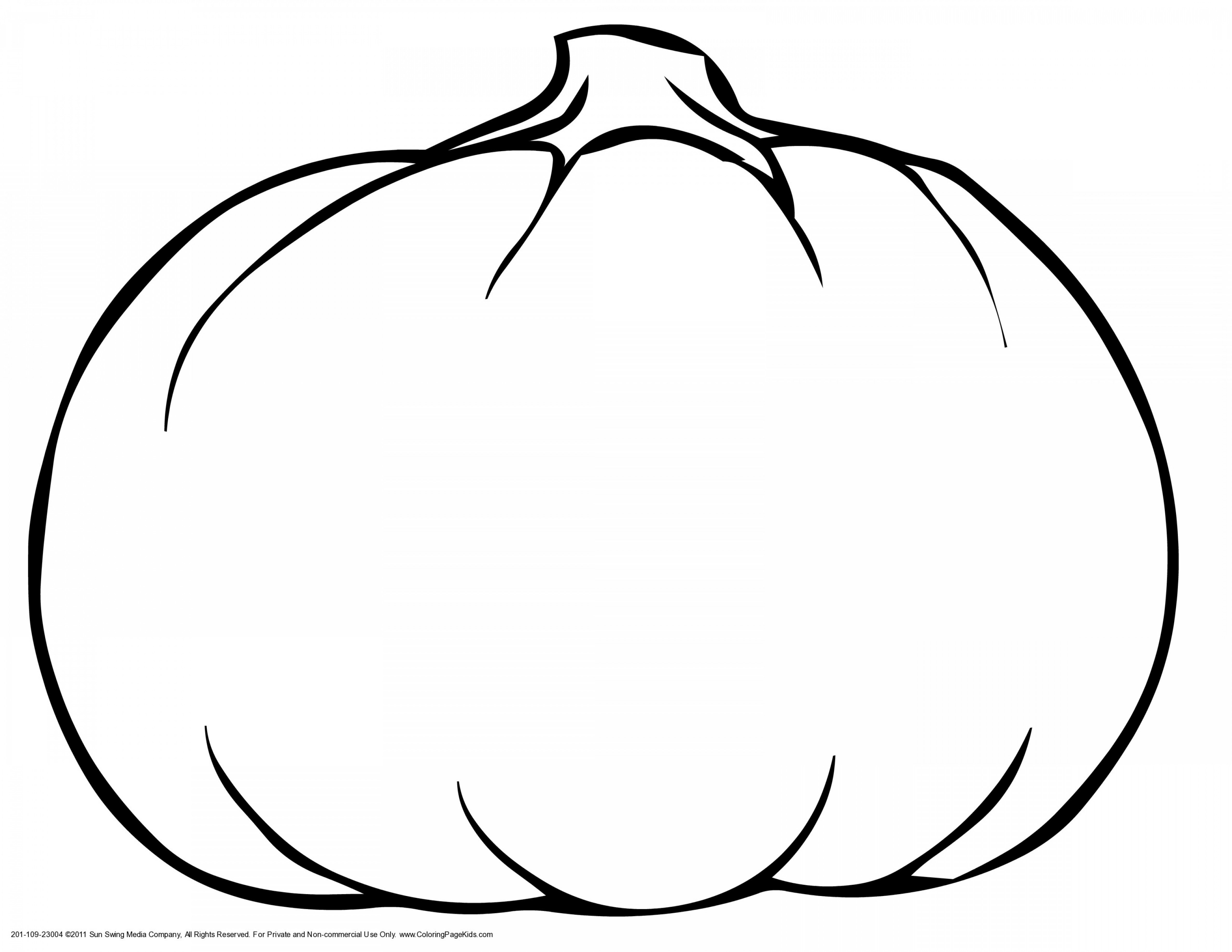 Pumpkin Outline Vector Art: Pumpkin Outline Clipart Black And White