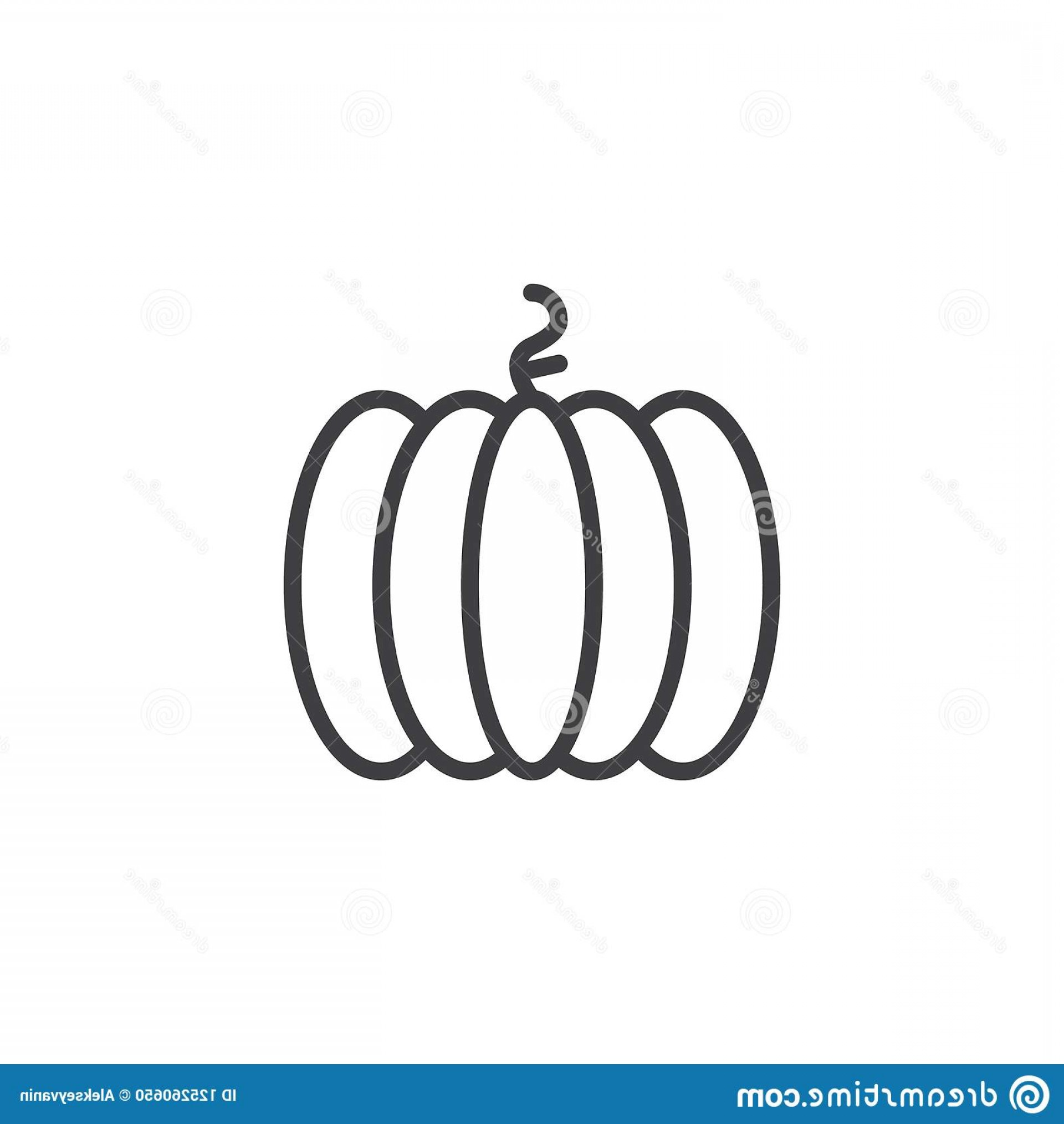 Pumpkin Outline Vector Art: Pumpkin Outline Icon Linear Style Sign Mobile Concept Web Design Vegetable Simple Line Vector Icon Halloween Symbol Logo Image