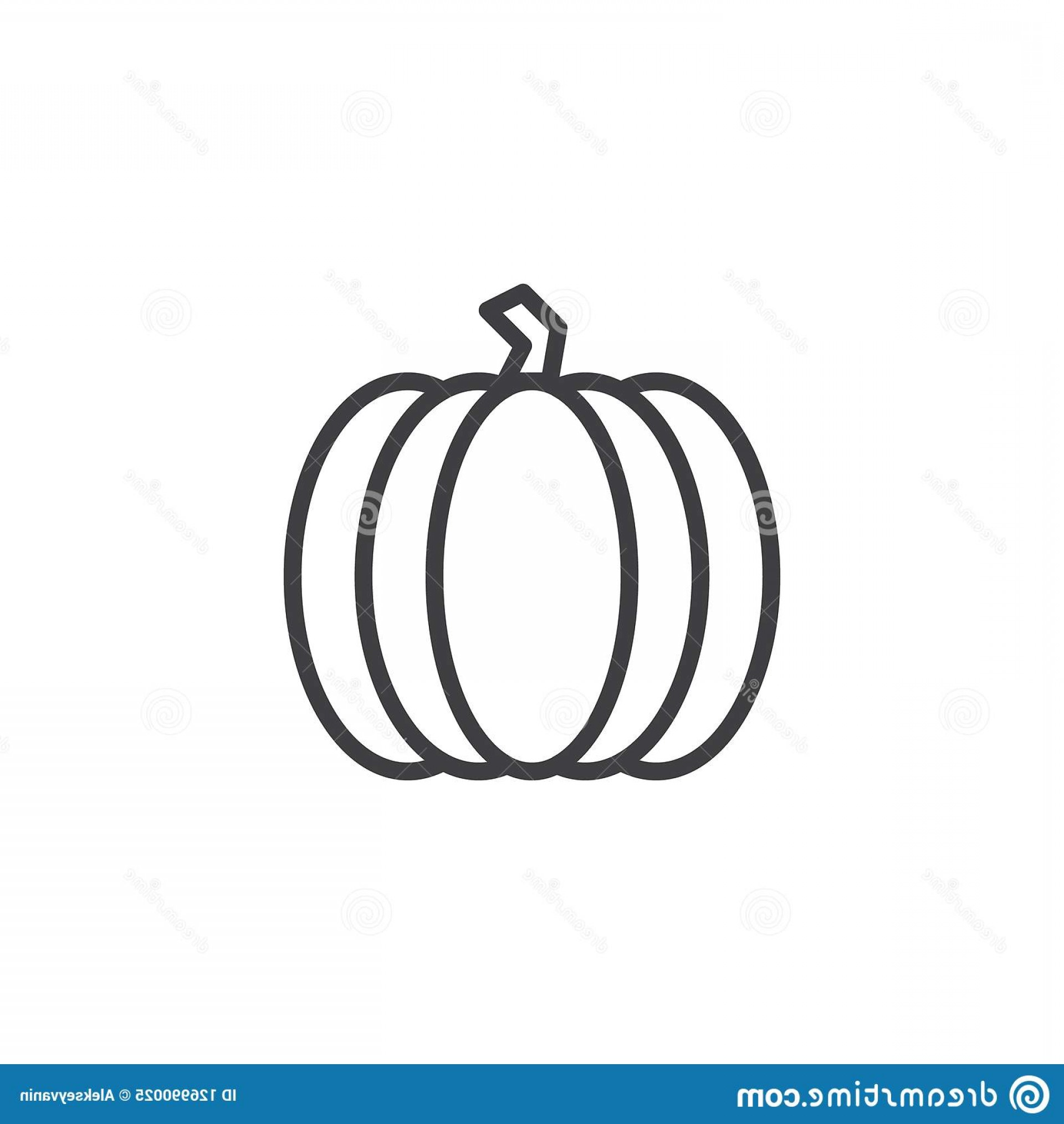 Pumpkin Outline Vector Art: Pumpkin Outline Icon Linear Style Sign Mobile Concept Web Design Vegetable Simple Line Vector Icon Symbol Logo Image