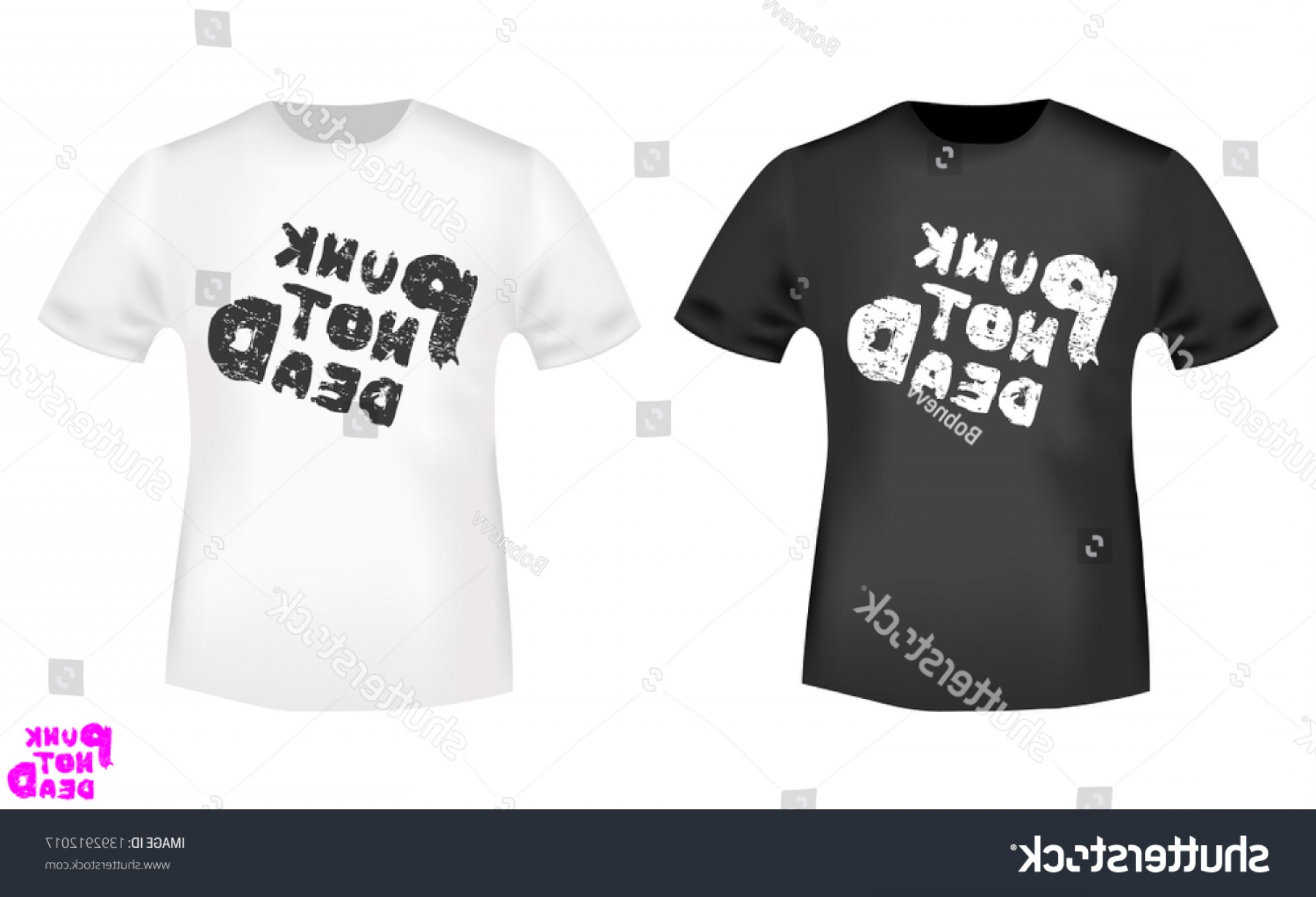 Vector Stamp Shirts: Punk Not Dead Tshirt Print Stamp