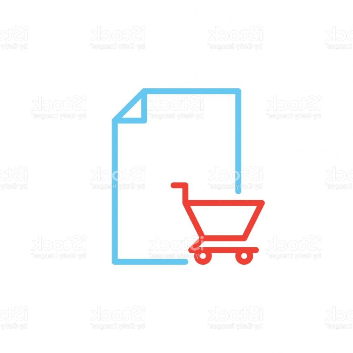 Purchase Vector Art: Purchase Order Line Icon Outline Vector Sign Linear Colorful Pictogram Isolated On Gm
