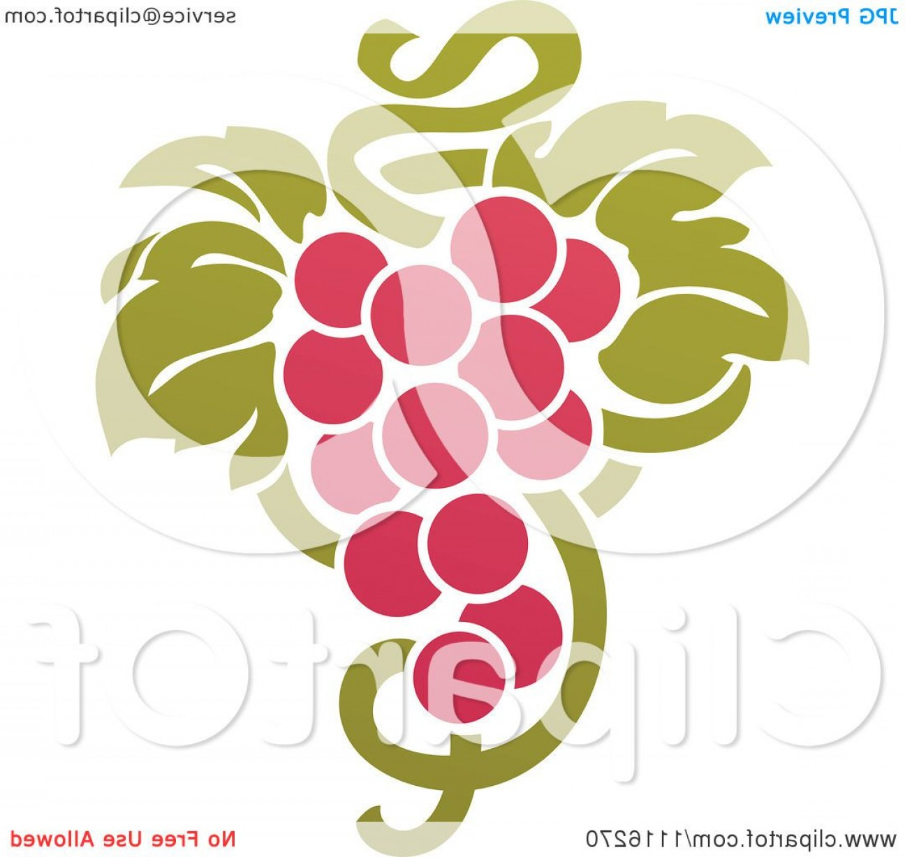 Grapes Clip Art Vector: Purple Grapes And Leaves Wine Icon