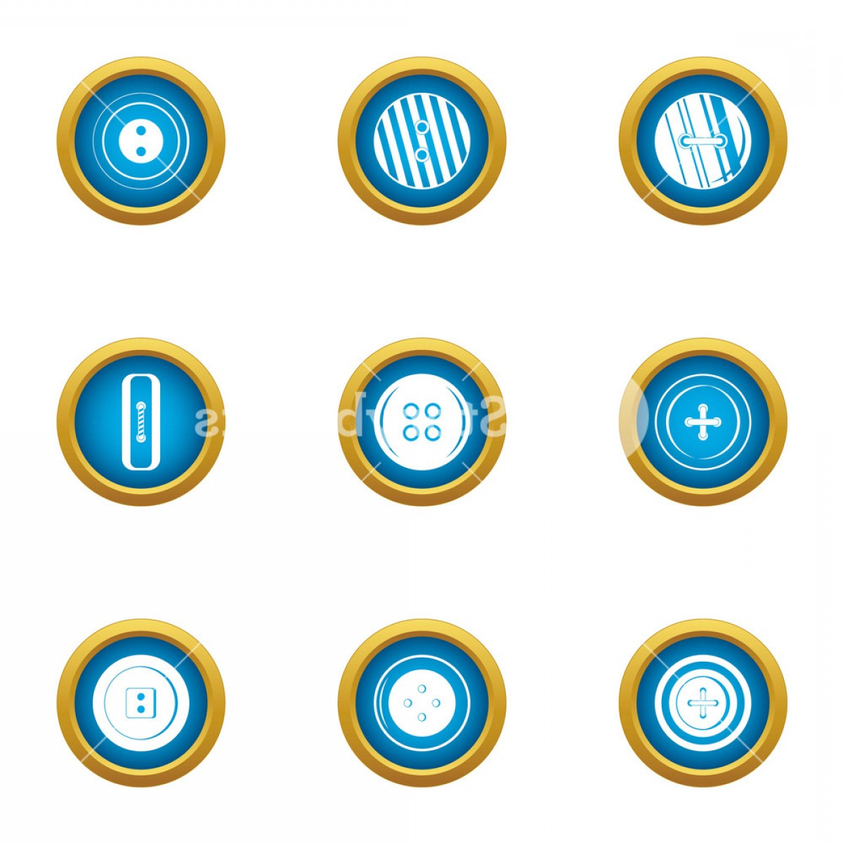 Contact Button Icons Vector Free: Push Button Icons Set Flat Set Of Push Button Vector Icons For Web Isolated On White Background Rfckaxbjjpqbi