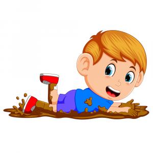 Vector Mud Man: Puddle Mud Vector Cartoon Set Isolated On Transparent Background Chocolate Splash Gm