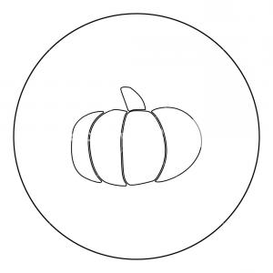 Pumpkin Outline Vector Art: Pumpkin Icon Black Color In Circle Outline Vector Illustration Rodojbkomjhrrr