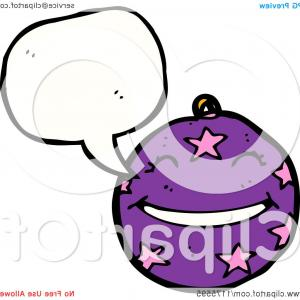 Purple Christmas Ornaments Vector: Purple Christmas Ornament With A Conversation Bubble