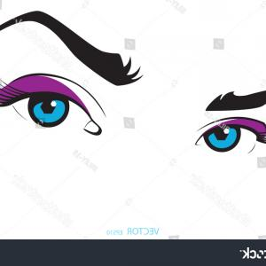 Vector Illustration Eyes Makeup: Eye Makeup Eye Shape Of The Line Gm
