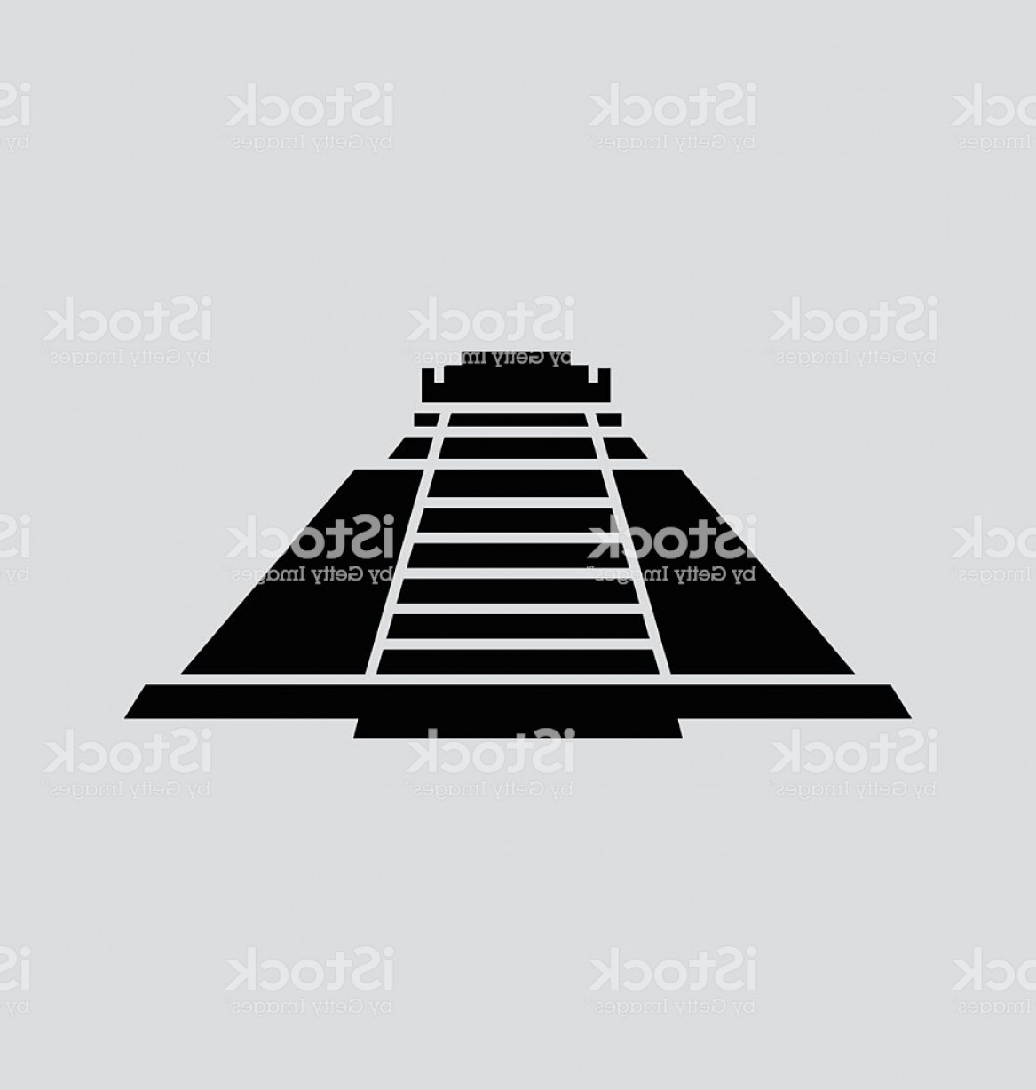 Piramids Vector Art: Pyramid Of The Magician Solid Vector Illustration Gm