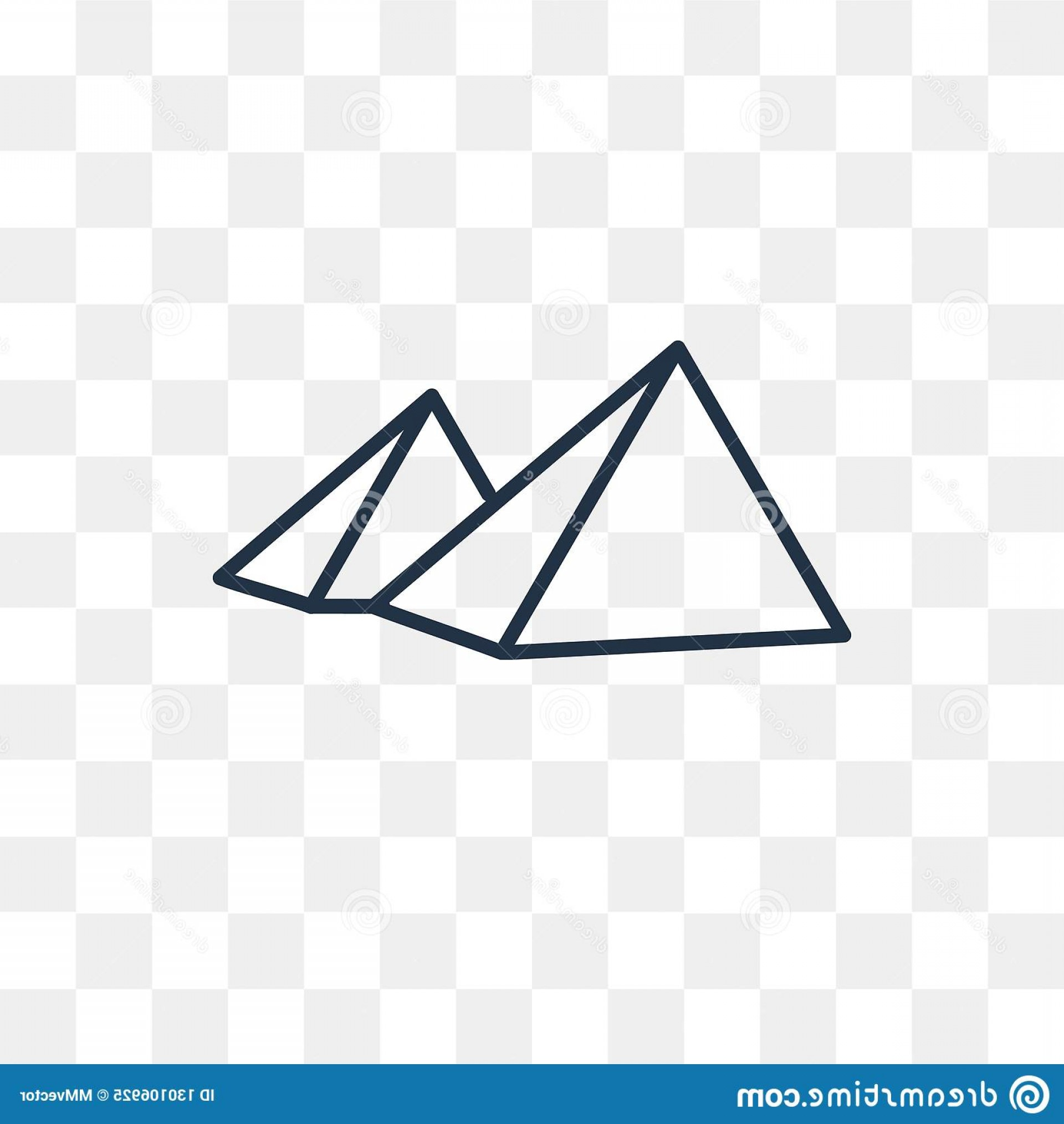 Piramids Vector Art: Pyramids Vector Icon Isolated Transparent Background Linear Outline High Quality Transparency Concept Can Be Used Web Image