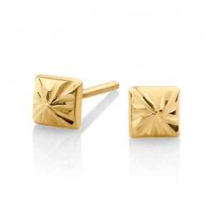 Pyramid Stud Vector: Pyramid Stud Earrings In Ct Yellow Gold