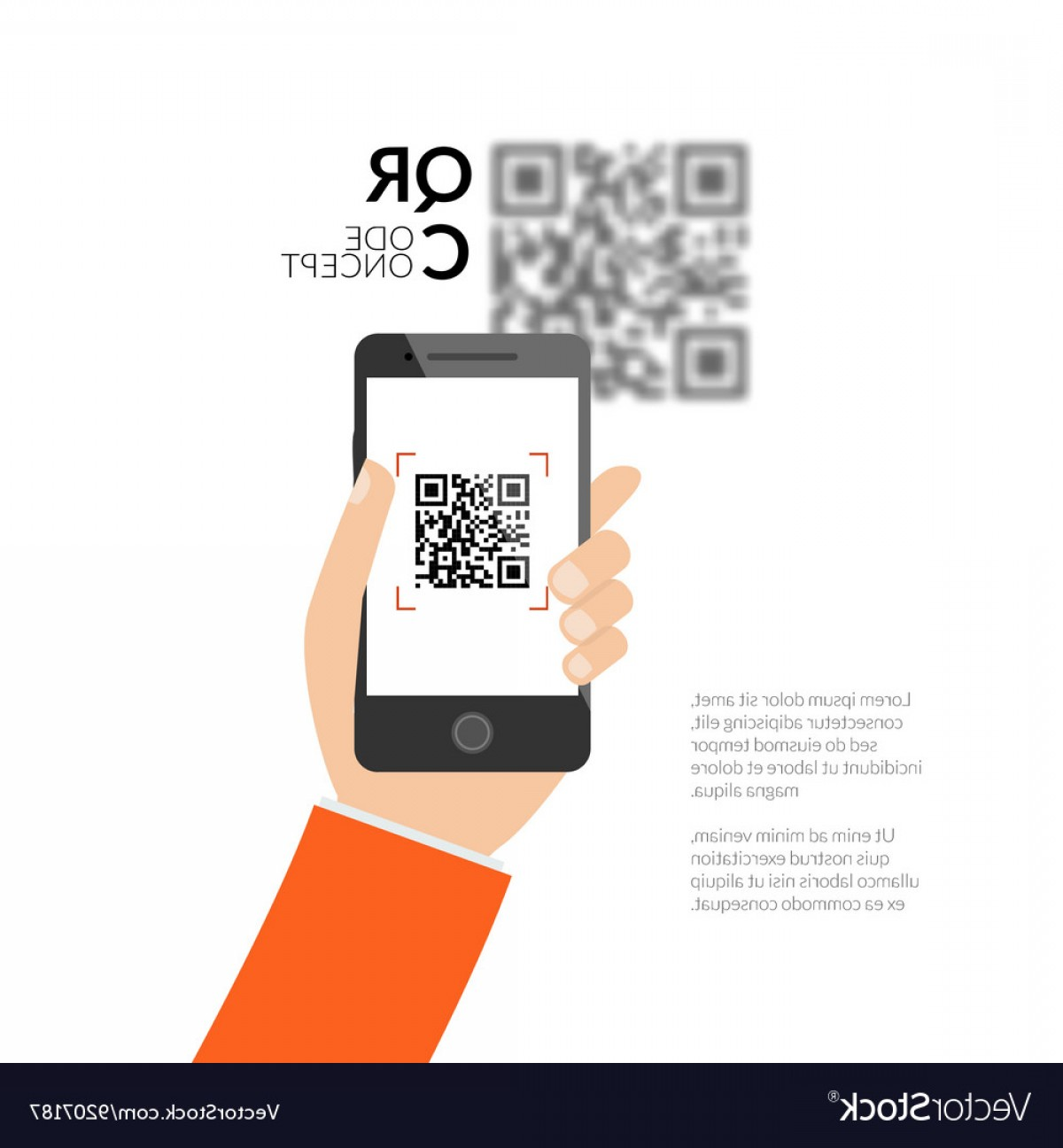 QR Mobile Phone Vector: Qr Code Scanning With Mobile Phone Capture Qr Vector