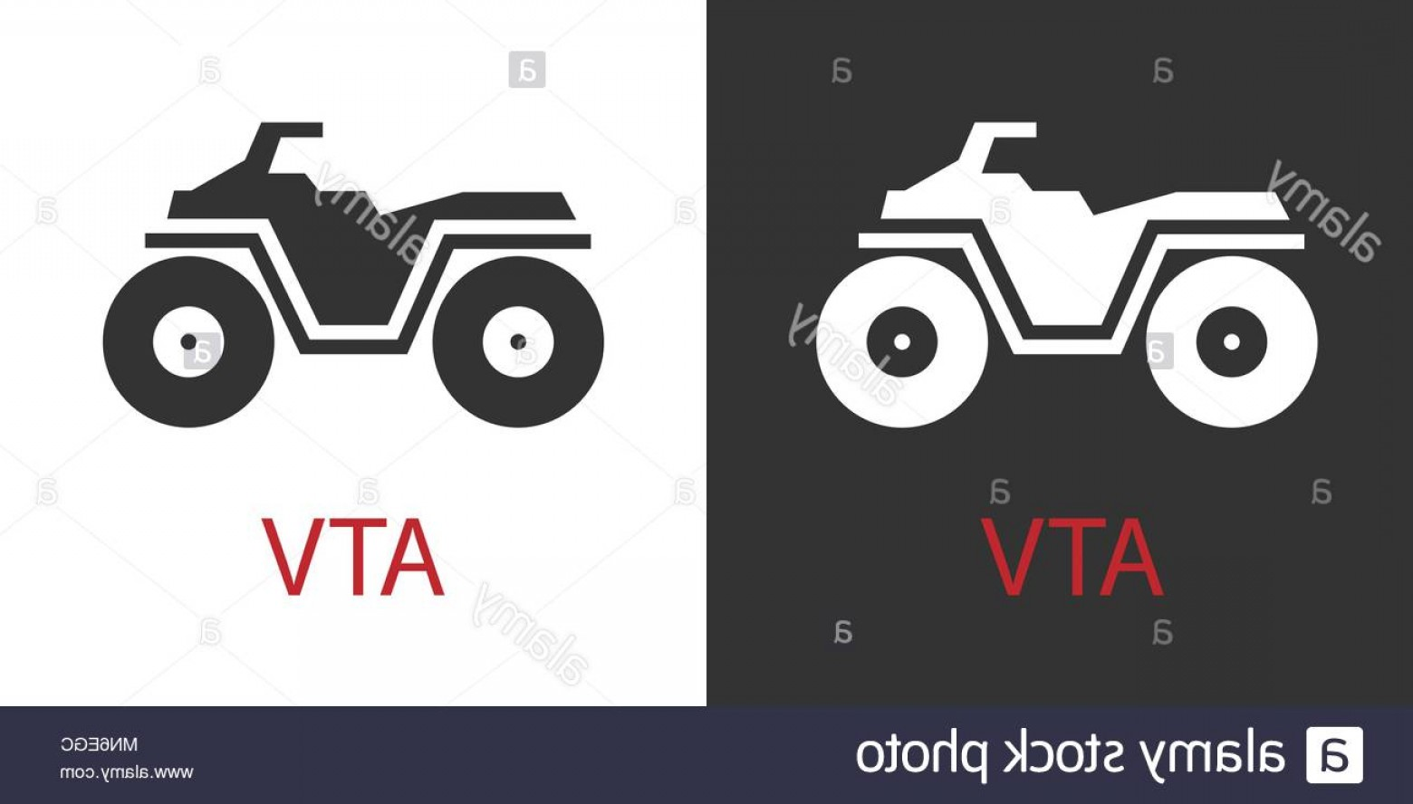 4 Wheeler Vector Art: Quad Atv Icon Isolated Vector Sign Symbol Image