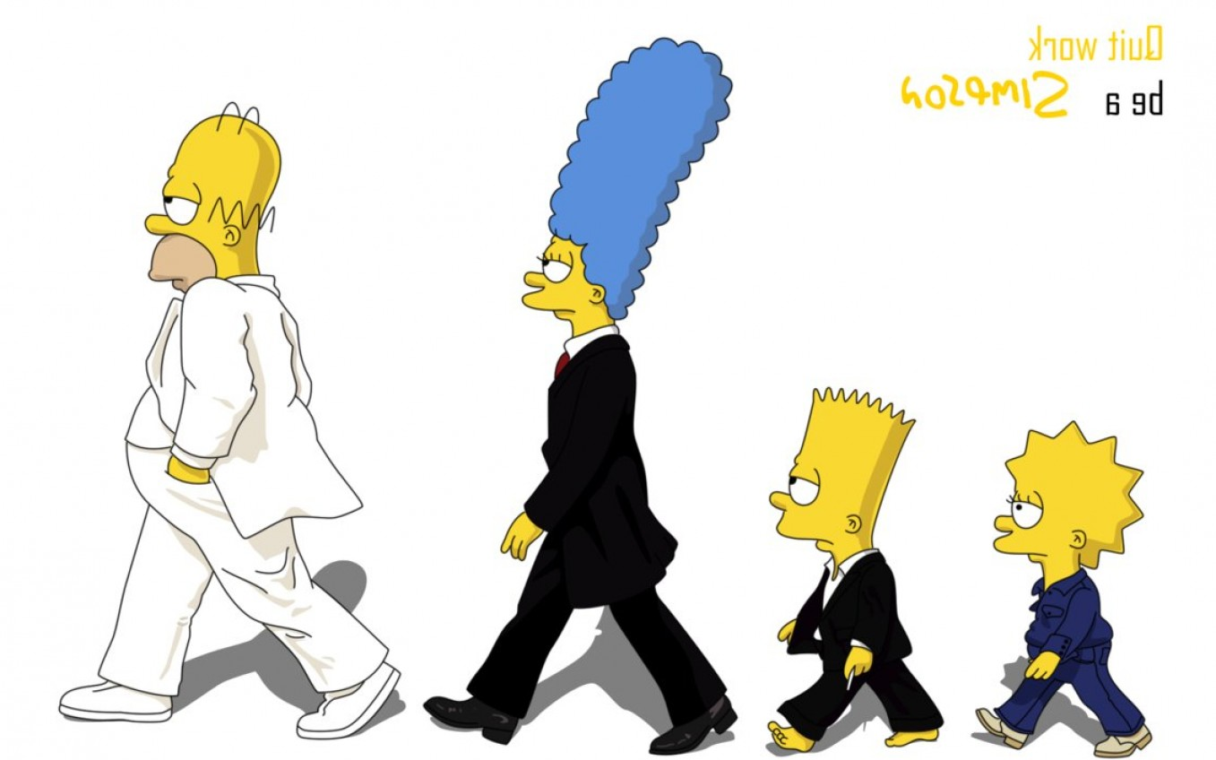 Bart Simpson Vector: Quit Work Be A Simpson