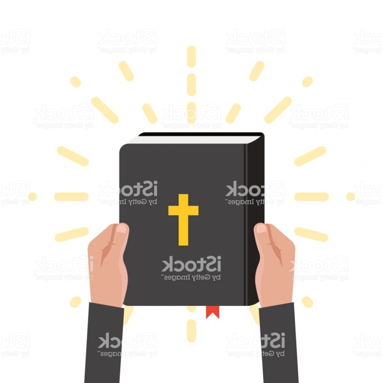Holy Bible Vector: Quotation From The Bible The Place Empty For Text Holy Book Scripture Christian Gm