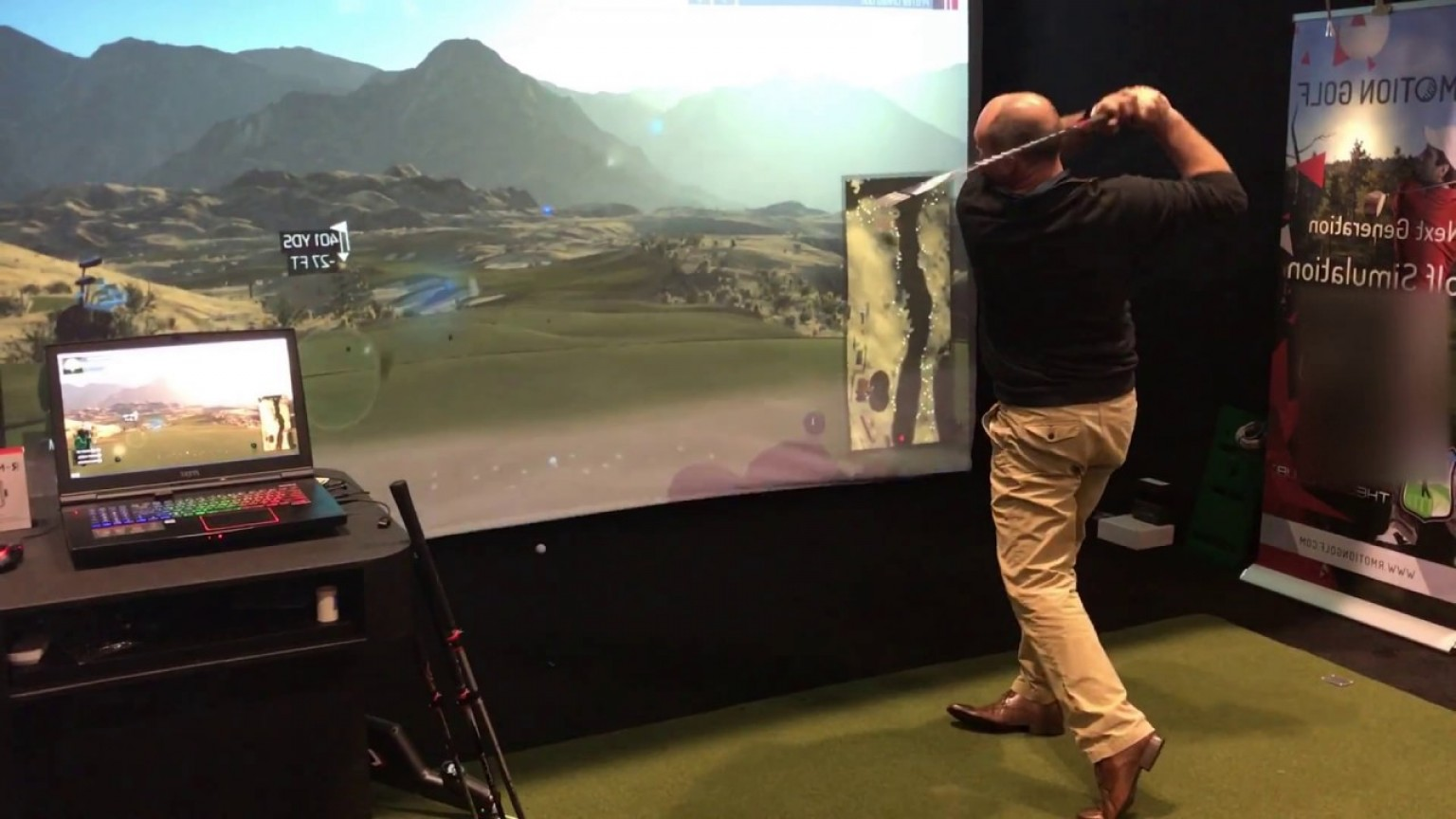 Vector Golf Simulator: R Motion Golf Simulator Package Rma