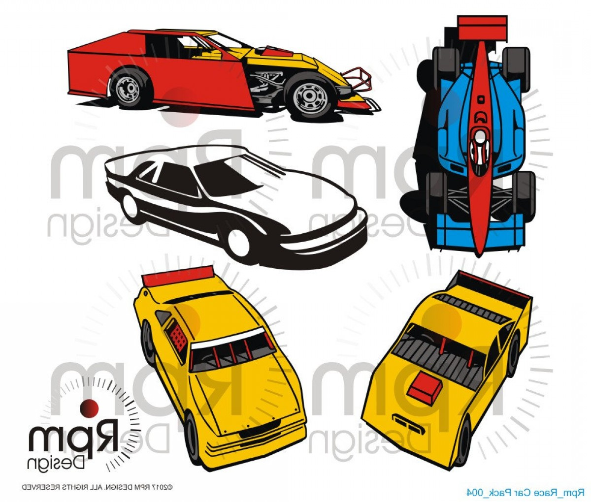 Late Model Race Car Vector Art: Racecar Svg Racing Svg Late Model