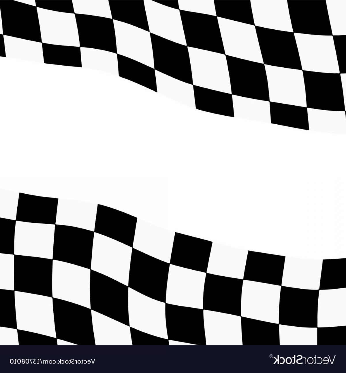 Checkered Flag Background Vector: Racing Background With Checkered Flag Vector