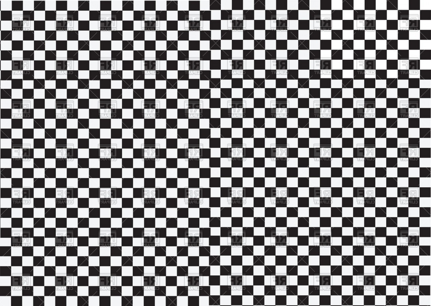 Black And White Vector Racing Graphics: Racing Flag White And Black Background With Squares Vector Clipart