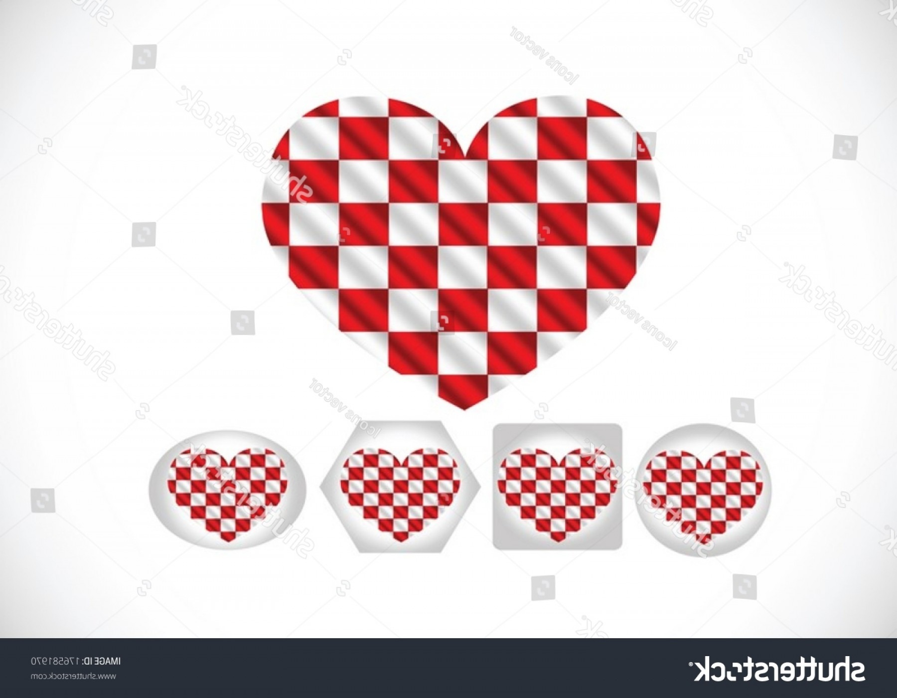 Vector Checkered Flag Heart: Racing Flags Background Checkered Flag Themes