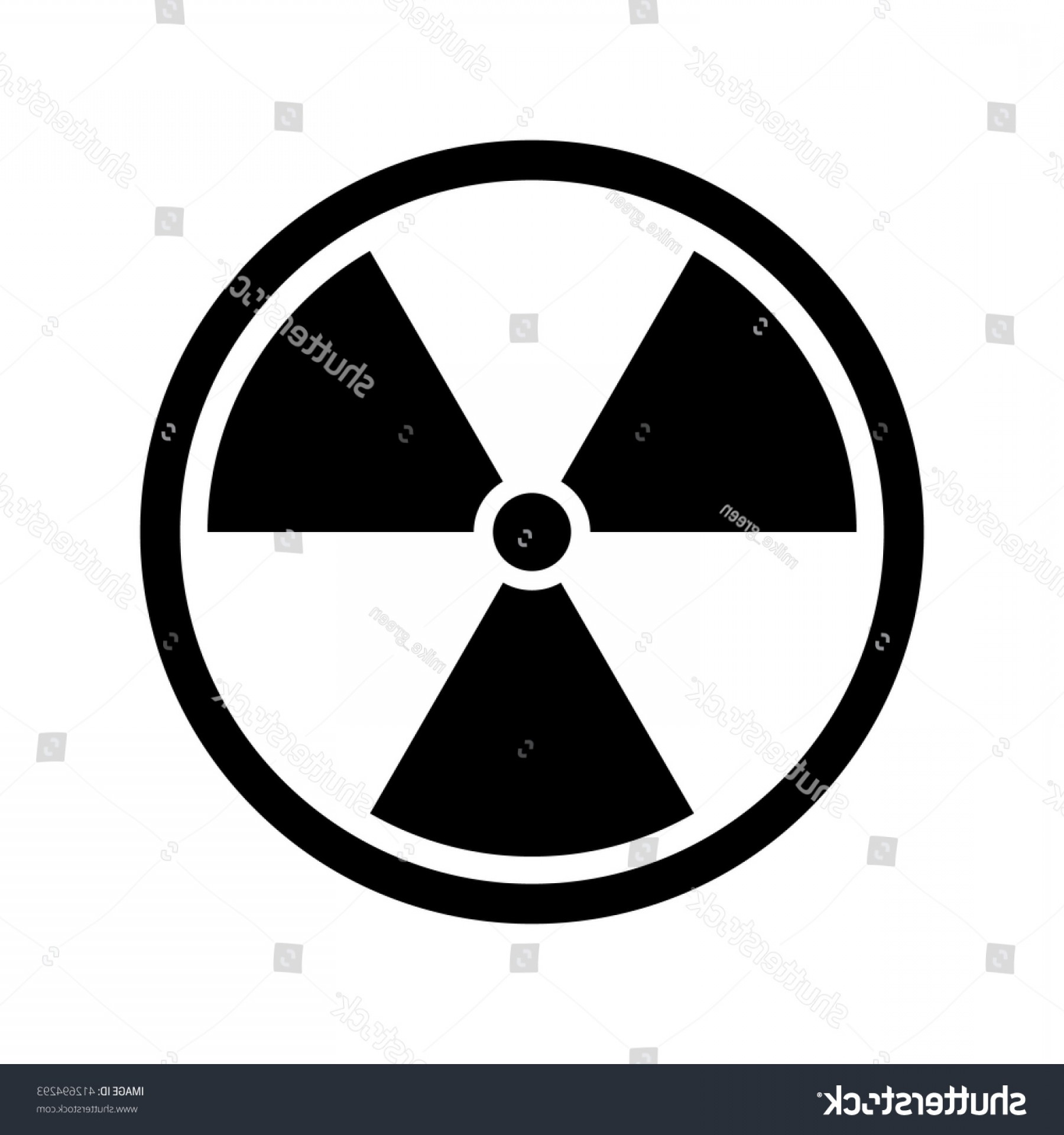 Radioactive Symbol Vector: Radiation Icon Nuclear Silhouette Symbol Vector