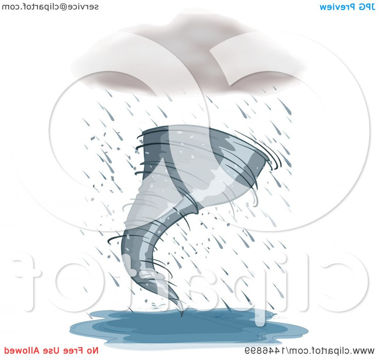 Hurricane Vector Art: Rain Cloud And Tornado Hurricane