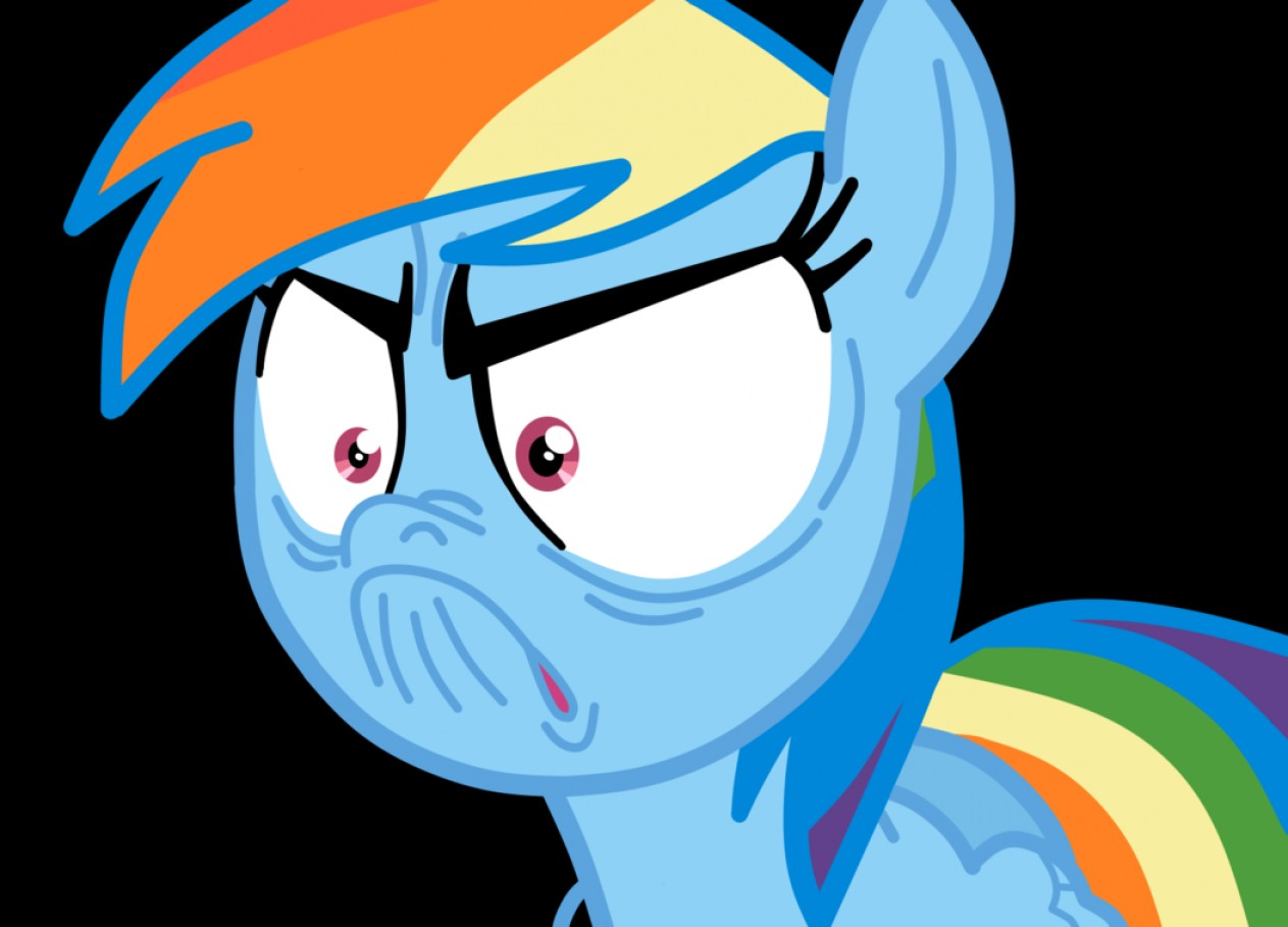 MLP Tank Flying Vector: Rainbow Dash I M Not Angry Vector