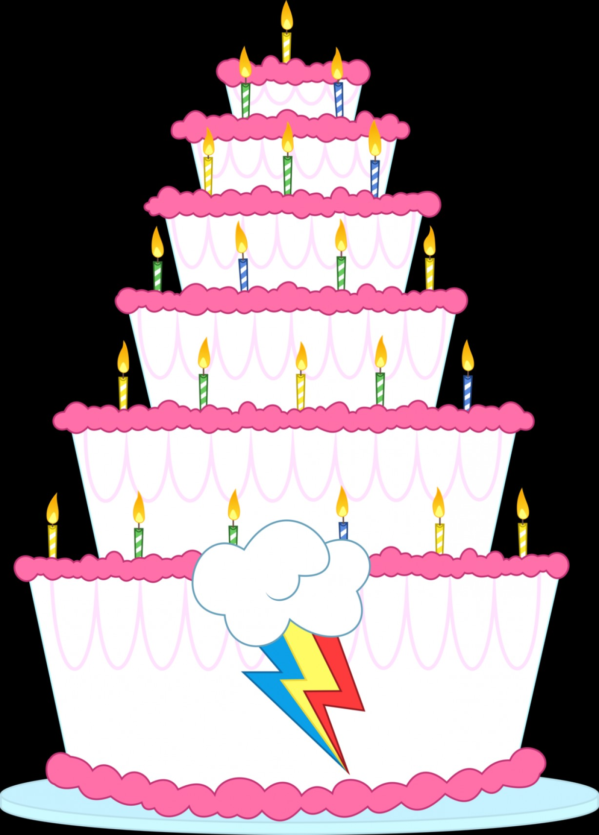 MLP Cake Vector: Rainbow Dash S Birthday Cake