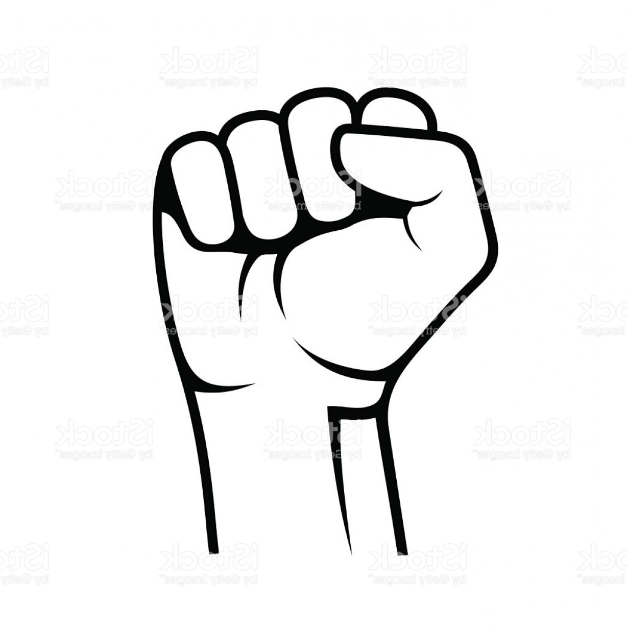 Emoji Fist Bump Vector Graphic: Raised Fist On White Background Vector Gm