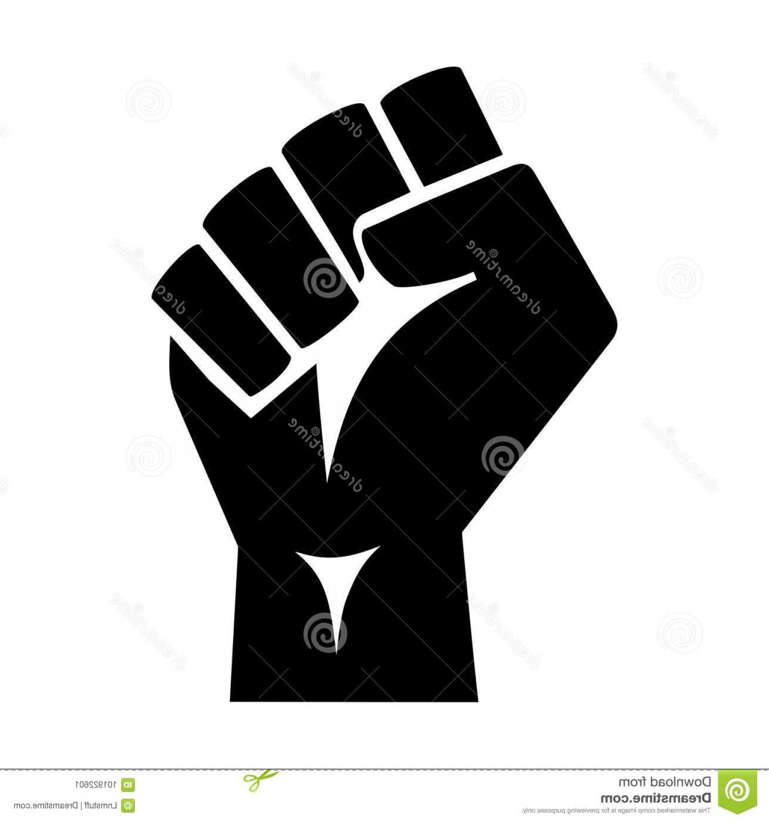 Hand Fist Vector: Raised Protester Fist Vector Illustration Iconic Isolated White Background Graphic Style Silhouette High Quality Image