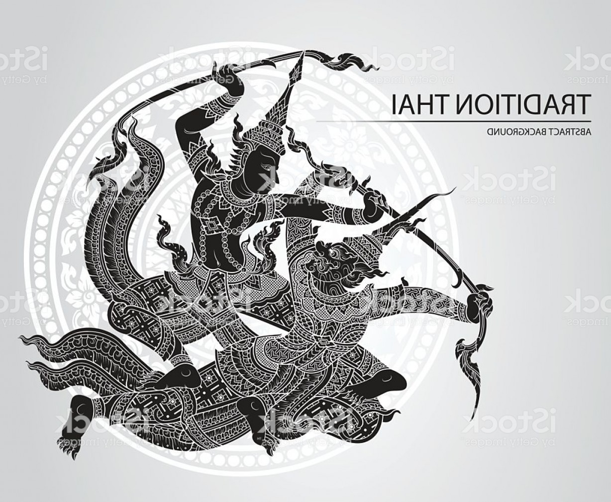 Vector Ancient Battle: Rama Battle A Giant Greeting Card Design Gm