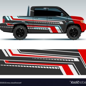 Vector Art Vinyl Decal For Purchase: Racing Car Design Vehicle Wrap Vinyl Graphics Vector