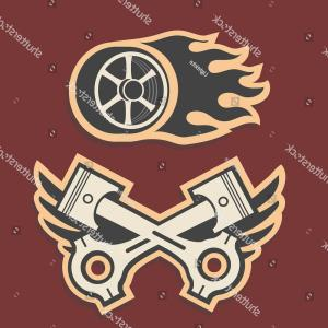 Race Car Grill Vector: Sport Auto Items Doodles Elements Hand