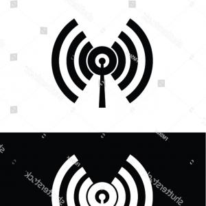 Frequency Icon Vector: Radio Frequency Identification Rfid Tag Icon Vector