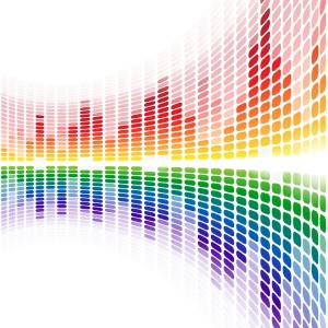 Digital Vector Rainbow Designs: Abstract Digital Background Rainbow Vector
