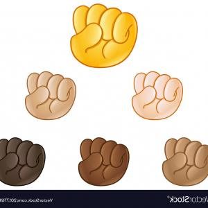 Emoji Fist Bump Vector Graphic: Photostock Vector Fist Gesture Hand In Glove Isolated Vector Illustration Funny Emoji Emoticon Symbol Expression Const