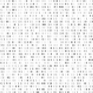 Coding Vector White: Random Binary Coding Technology Digital Background Black And White Binary Code Gm