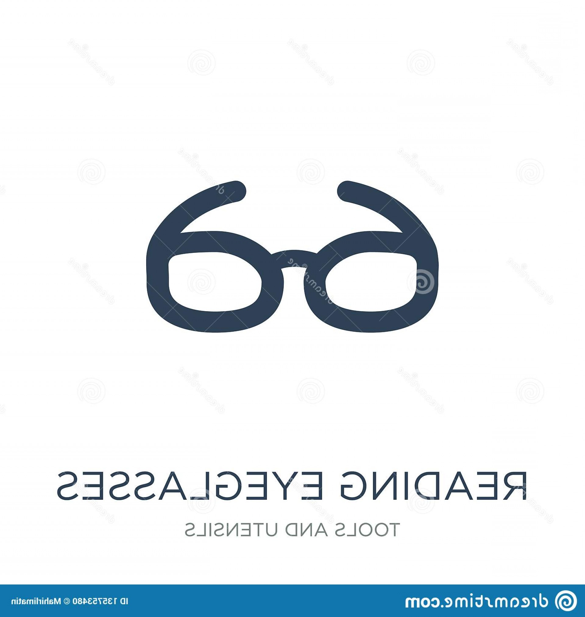 Reading Glasses For Men Vector: Reading Eyeglasses Icon Trendy Design Style Isolated White Background Vector Simple Modern Flat Symbol Web Site Image